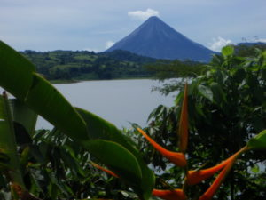 Arenal Volcano across the lake
